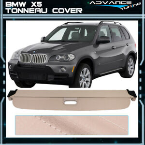 Fits 07 13 Bmw X5 Beige Rear Cargo Tonneau Cover Pu Leather