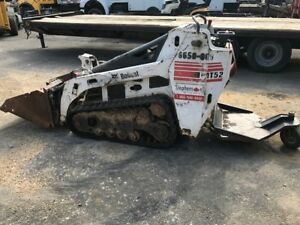 Bobcat 2008 Mini Trac Muti Terrain Skidsteer Loader Mt52 Bucket New Tracks Dingo