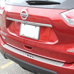 2013 2017 Fits Nissan Rogue Chrome Rear Bumper Protector Cover Scratch Exact New