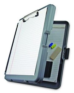 Gray Work Mate Plastic Storage Contractor Clipboard Protective Block Holder Doc