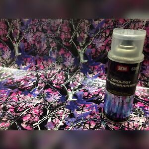 Hydrographics Film pink Brush Camo Pro Kit 3 Meters 16oz Aerosol Activator