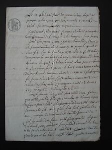 Antique French Legal Document Dated 1832