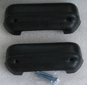 Mopar Dodge Plymouth Duster Black 1973 74 76 A Body Arm Rest Pad New