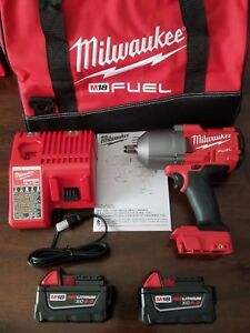 New Milwaukee M18 Fuel 1 2 High Torque 1400 Ft Lb Impact Wrench Kit 2767 22