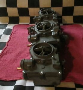 Vintage Used Genuine Rochester Tripower Carburetor carb Removed From 62 Corvette