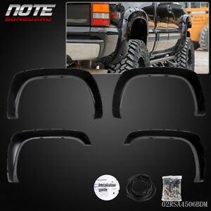 Fender Flares For Chevy Silverado 1500 2500 3500 2003 2007 Textured Black
