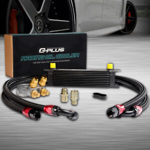 Gplus 10 Row An10 Thermostat Adaptor Engine Racing Oil Cooler Kit For Car Truck