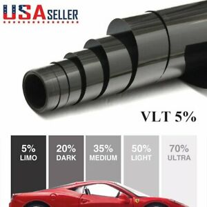 Uncut Roll Window Tint Film 5 Vlt 20 In X 10 Ft Feet Car Home Office Glass