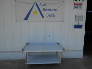 Mix Rite 48 Stainless Steel Equipment Stand With Undershelf Atse 2848