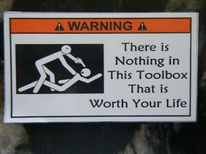 Magnet Not Worth Your Life Tool Box Warning Magnet Snapon Mac Must Have