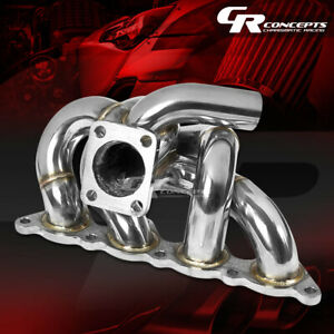 For 93 02 Mirage Lancer Evo 8 9 4g93 Swap T25 Turbo Manifold Stainless Exhaust