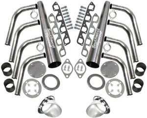 New Sbf Lake Style Header Kit 351 Cleveland 4 Barrel 351c 3 1 2 Ceramic Turnouts