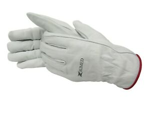 Goatskin White Color Working Gloves all Size Available