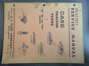 Case B Bl Toa Plows Dealers Service Manual