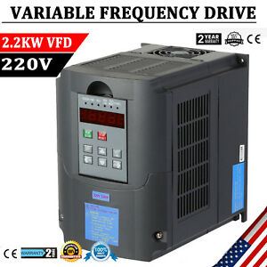 2 2kw Cnc Spindle Motor Speed Control Variable Frequency Drive Vfd Inverter 220v