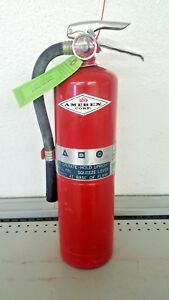 Vintage 1979 Halon 1211 9lb Fire Extinguisher Amerex New Hydro Recharge Tag