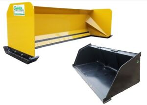 8 Snow Pusher 84 Snow Bucket Free Shipping Skid Steer Snow Plow Bobcat Case