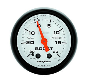 Autometer Phantom 2 1 16 Mechanical Vacuum Boost Gauge 20 Psi 52mm