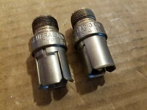 General Radio Co Type 874 m f Rf Microwave Quick Connect Vhf f Adapters Silver