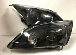 Factory Style Black Housing Clear Reflector Projector Headlight For 07 11 Cr v