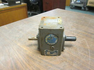 Boston Gear Reducer F71520bsh 0 63hp In Ratio 20 1 377 Lb in Torque Out Used