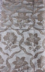 French Antique 19thc Silk Brocaded Floral Frame Fabric Sample 20 Lx 21 W