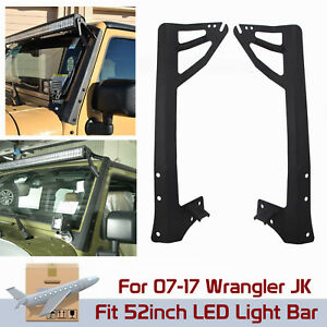 2007 2017 Jeep Wrangler Jk Mount Bracket Fit For 52inch Led Light Bar A Pillar