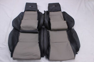 Custom Made 84 88 C4 Corvette Real Leather Seat Covers For Standard Seats 2 Tone