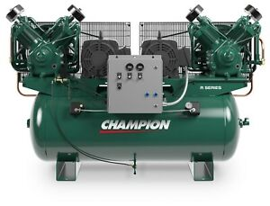 The Best 7 5hp Duplex Single Phase 230 Volt 51 6 Cfm Air Compressor R30d Pumps