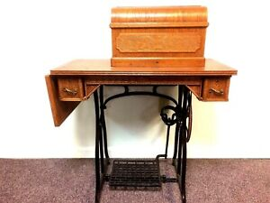 Wheeler Wilson Treadle Sewing Machine No 9 Box With Attachments