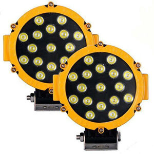 2pcs 7 51w Spot Cree Round Led Work Light Driving Fog Lamps Offroad Suv Truck