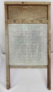 Vintage National Washboard Co Universal Board Memphis Chicago 134 26 X 14