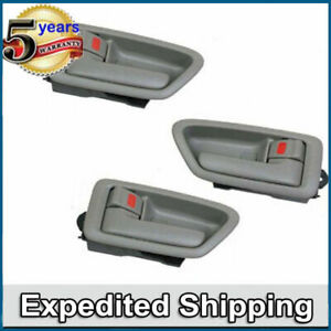 Left Right Inside Door Handle Sage Set 3pcs Ds68 For 97 01 Toyota Camry