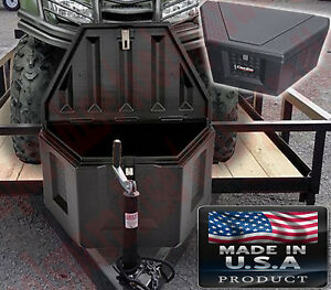 Pickup Bed And Trailer Tongue Plastic Toolbox Box Storage Chest Triangle Shape
