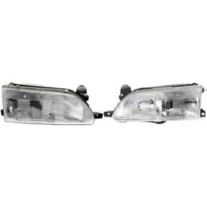 New To2503107 To2502107 Headlight Set For Toyota Corolla 1993 1997