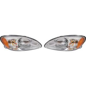 New Fo2503169 Fo2502169 Headlight Set For Ford Taurus 2000 2007