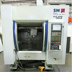 4 axis Sw Bas 03 Vertical Machining Center Fanuc Cnc Control Trunnion Table