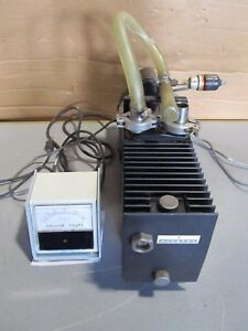 Oem Alcatel Franklin Electric Vacuum Pump W Savant Instrument Vacuum Guage
