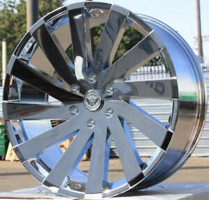 24 Inch Gima 6 Chr Rims And Tires 08 Ford F150 Navigator Expedition Mark Lt