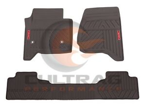 2014 2019 Gmc Sierra Genuine Gm Front Rear All Weather Floor Mats Cocoa