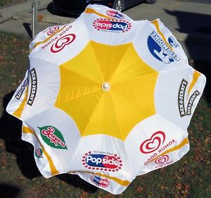 Multi brand Good Humor Ice Cream Push Cart Umbrella New