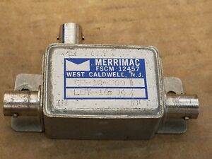Merrimac Microwave 12457 Cr 10 500 Rf 10db Directional Coupler 0 01 1ghz Bnc f