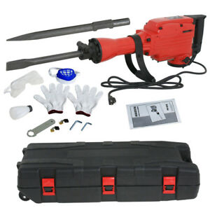 2200w Heavy Duty Electric Demolition Jack Hammer Concrete Breaker Punch W 2 Bit