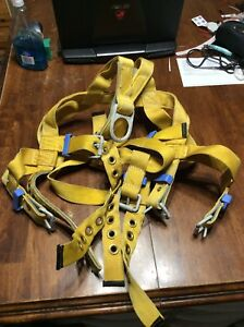 Used Dbi sala Full Body Safety Harness Vest Style Work Climb Large Size