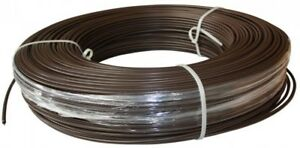 High Tensile Electric Fence Poly Wire 1320 Ft 12 5 gauge Brown Safety Coated