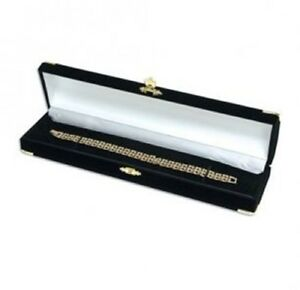 48 Black Velvet Brass Bracelet Watch Jewelry Presentation Display Gift Boxes