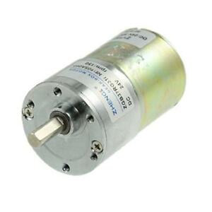 Dc 24v 150rpm High Torque Electric Speed Reducing Gear Box Motor Uxcell New