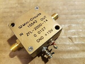 Mini circuits 15542 Zfl 2000 14 Rf Microwave Amplifier 2ghz 15v Sma f d112001