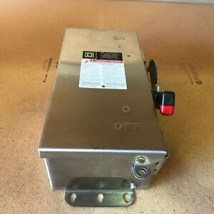 Square D H321ds Safety Switch Disconnect 30 Amp 240 Volt Fusible Stainless Steel