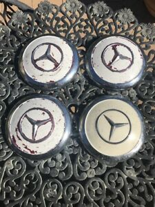Vintage Oem Mercedes Benz Hub Cap Dog Dish Hubcap 1960 S Set Of 4